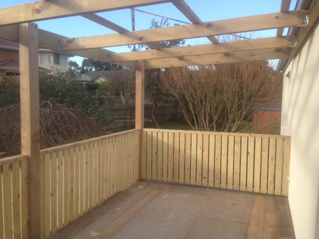 Fenced in Pergola